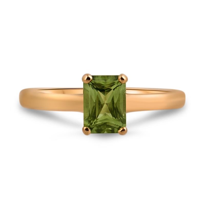 18k Yellow Gold Peridot Ring, Ispahan