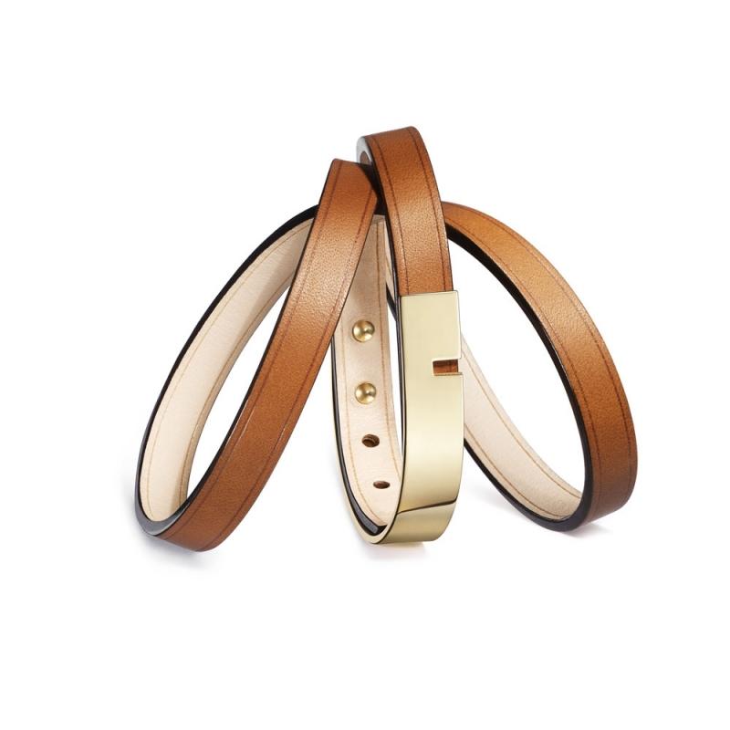 Bracelet Cuir Acier PVD, Ursul Paris, Choix couleur , U-Turn Triple