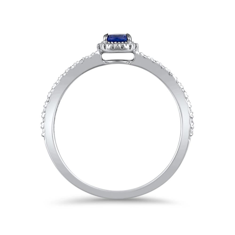 greta bague or blanc 18 carats saphir diamants bague finacailles diveene joaillerie