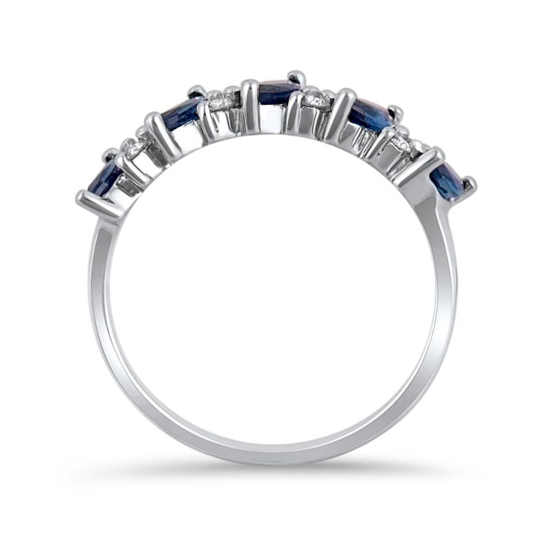 Assez Demi alliance Or blanc Saphirs et Diamants - Babylone BS22
