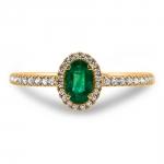 lucie bague or jaune 18 carats emeraude diamants bague finacailles diveene joaillerie