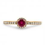 rym bague or jaune 18 carats rubis diamants bague finacailles diveene joaillerie