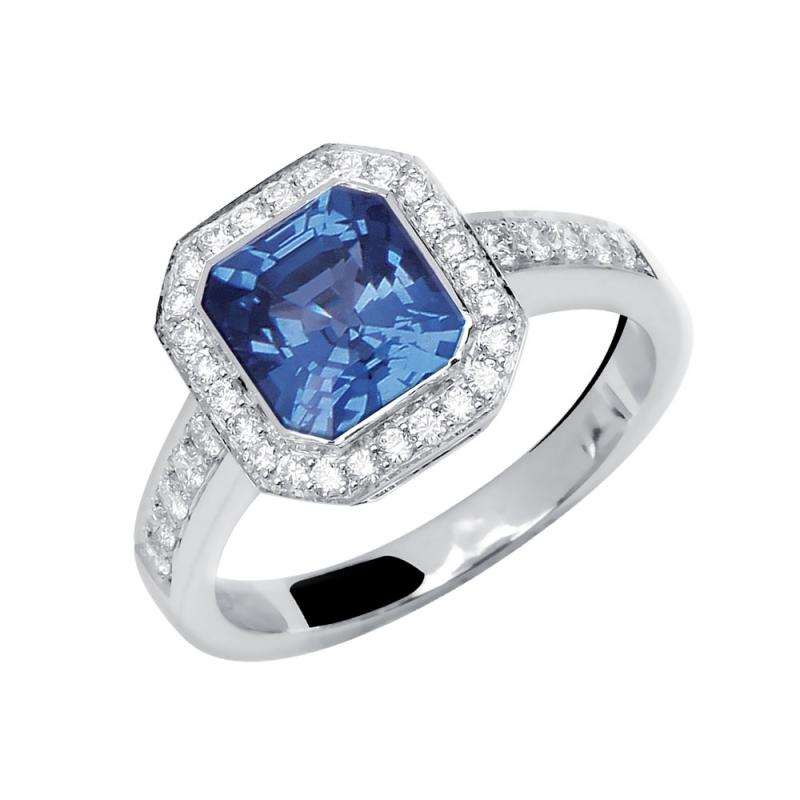 Bague en or, Saphir et Diamants  , Tsarine