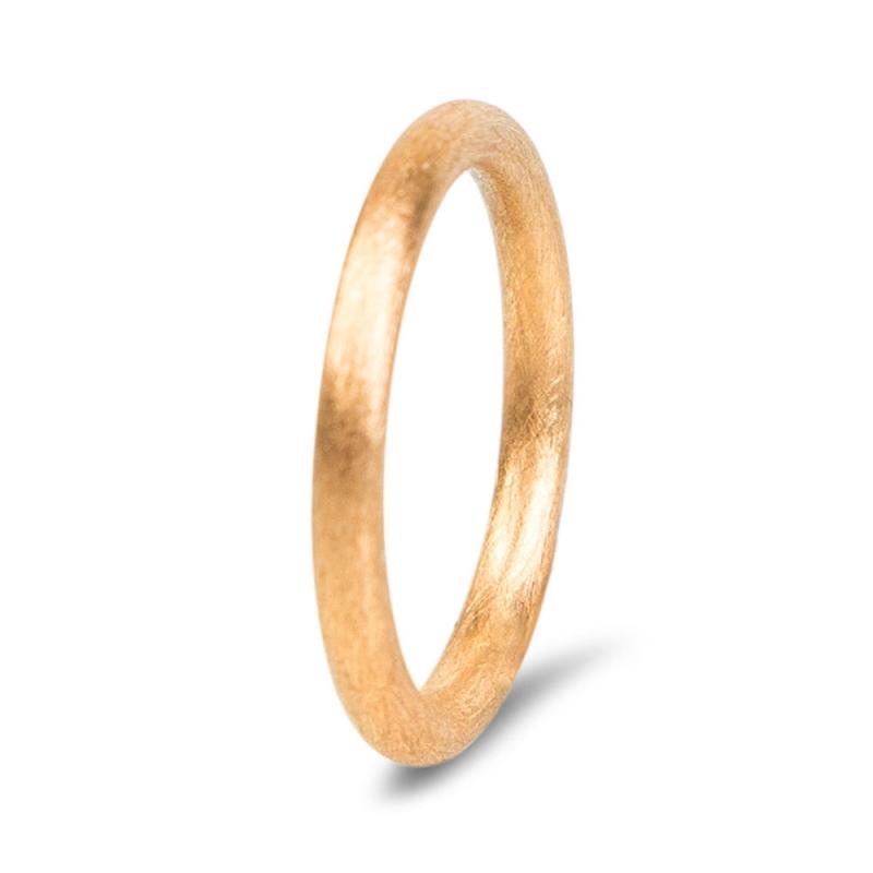 18k Scratched Rose Gold Wedding Ring For Men, Sasha