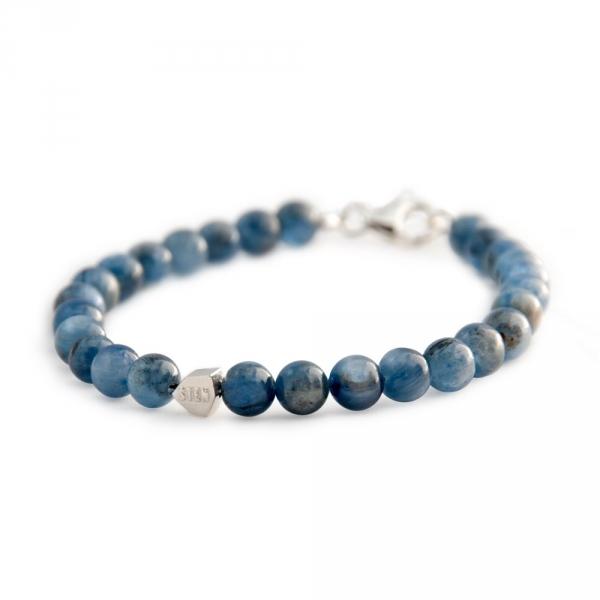 bracelet sten kyanite et argent diveene joaillerie bracelet bleu