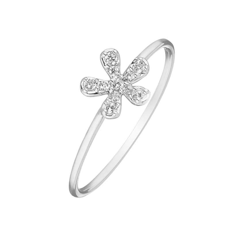 Silver White Saphir Ring , Lana