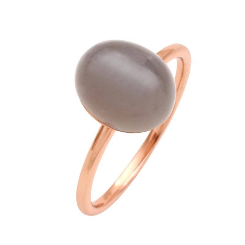 Rose Gold Vermeil Moonstone Ring , Estella