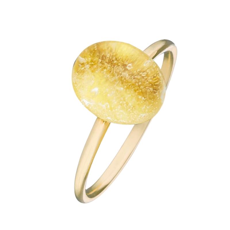 Yellow Gold Vermeil Quartz Ring , Estella