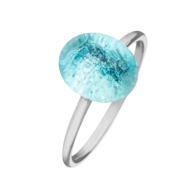 Silver Blue Topaz Ring , Estella