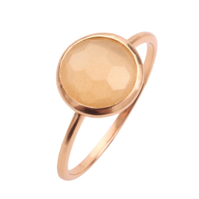 Rose Gold Vermeil Moonstone Ring , Dorys