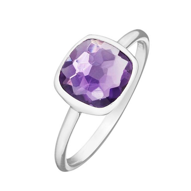 Silver Amethyst Ring, Paola