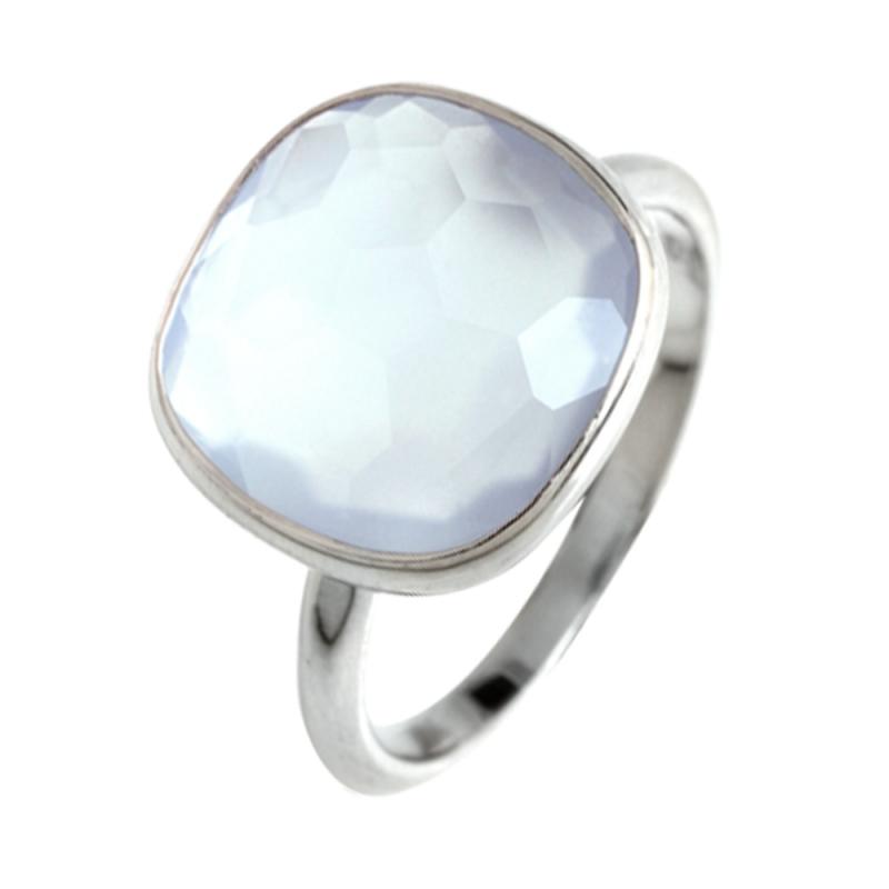 Silver Chalcedony Ring , Bruna