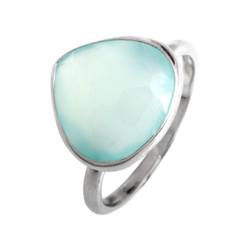 Silver Chalcedony Ring , Faeza
