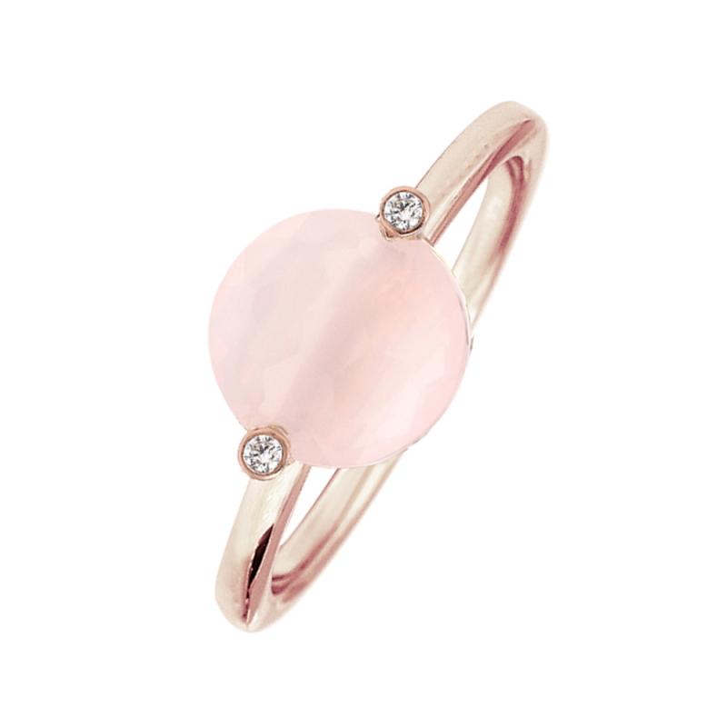 Rose Gold Vermeil Pink Quartz Ring , Manon