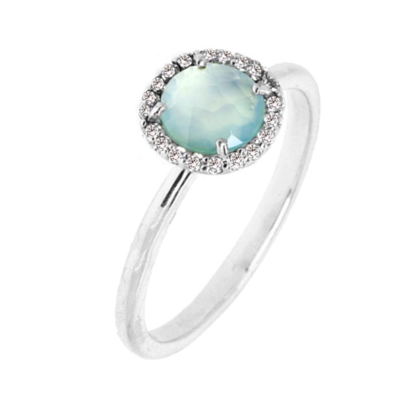 Silver Chalcedony Ring , Iriana