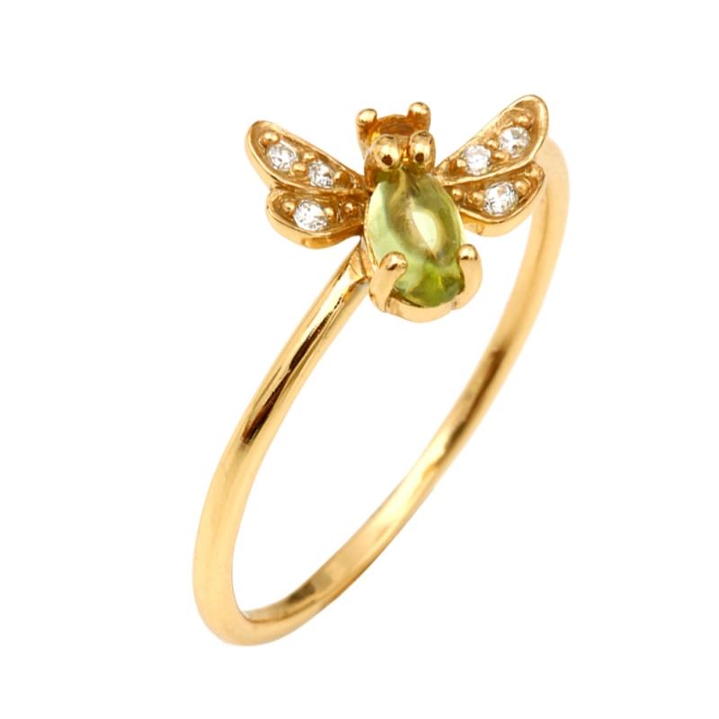 Yellow Gold Vermeil Citrine Ring , Vaena