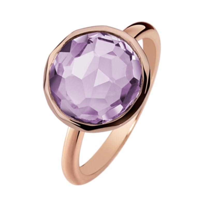 Rose Gold Vermeil Amethyst Ring , Flavy