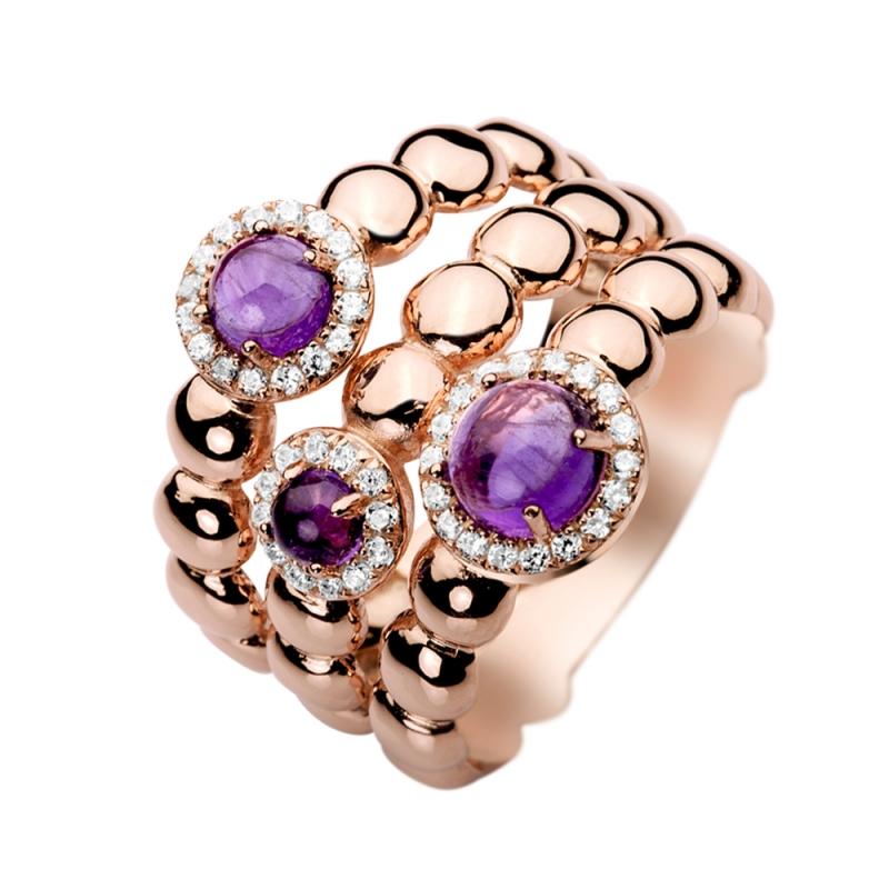 Rose Gold Vermeil Amethyst Ring, Florea