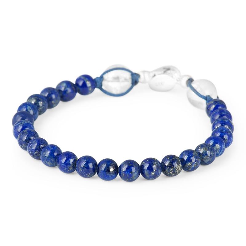 Bracelet Lapis-Lazuli, Argent , Discrétion