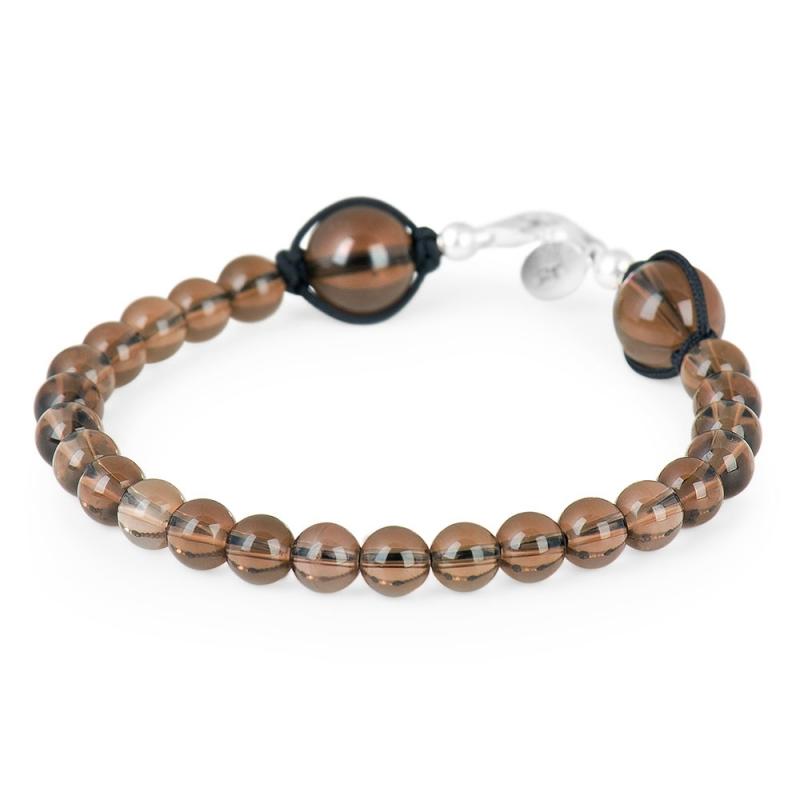Silver and Smoky Quartz Stone Bracelet , Discrétion