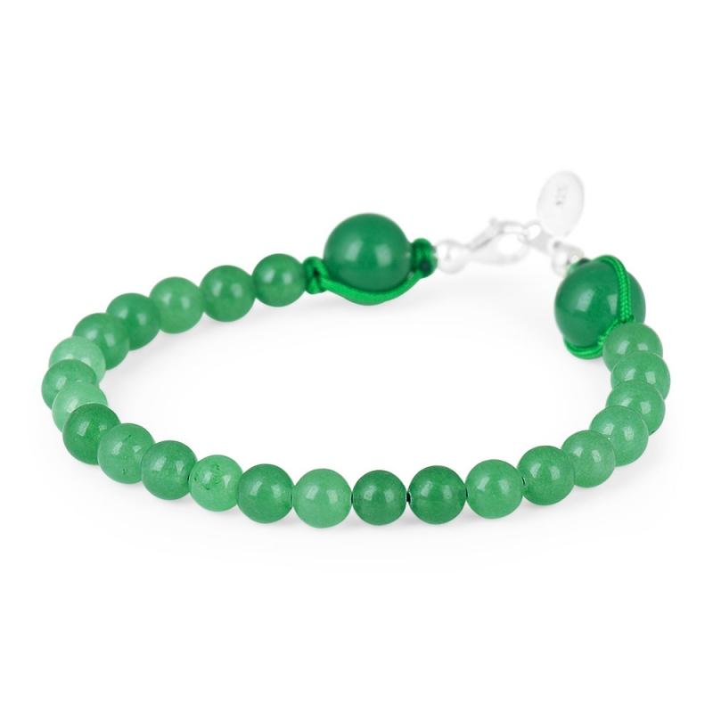 Silver and Jade Stone Bracelet , Discrétion