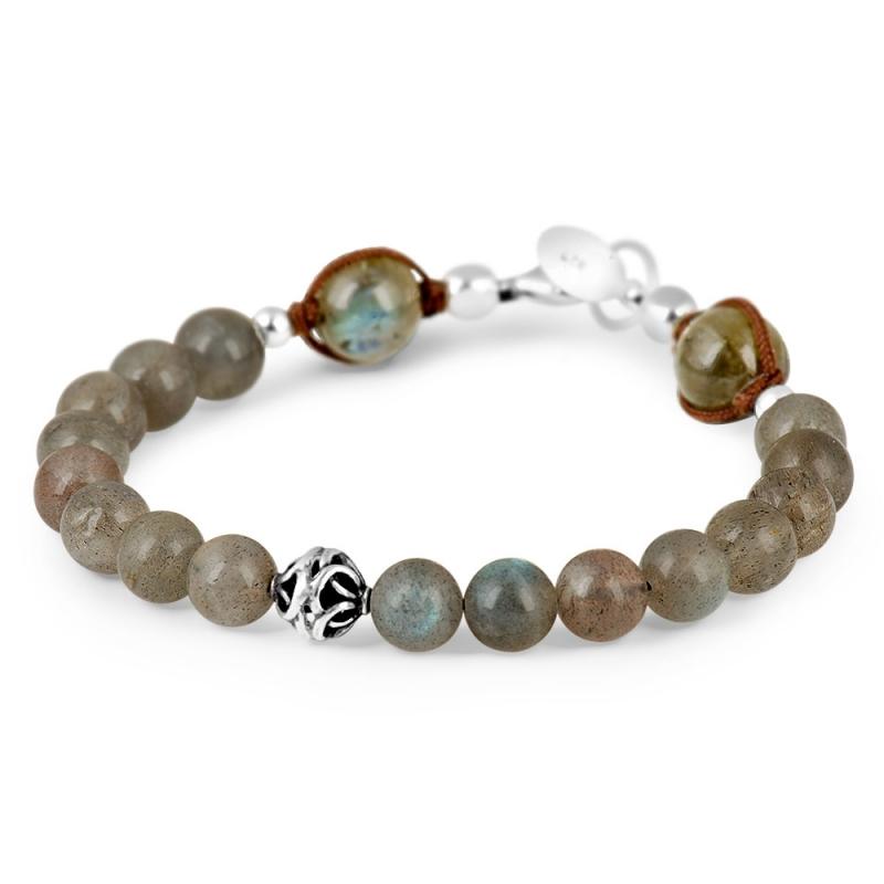 Silver and Labradorite Stone Bracelet , Aequilibrium