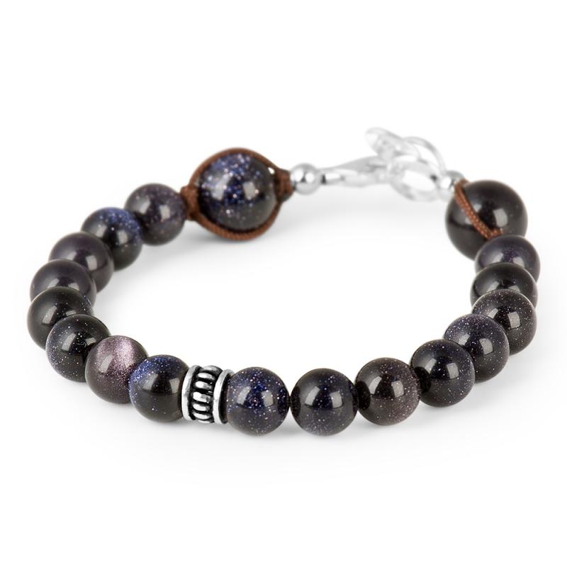 Bracelet Goldstone, Argent , Aequilibrium