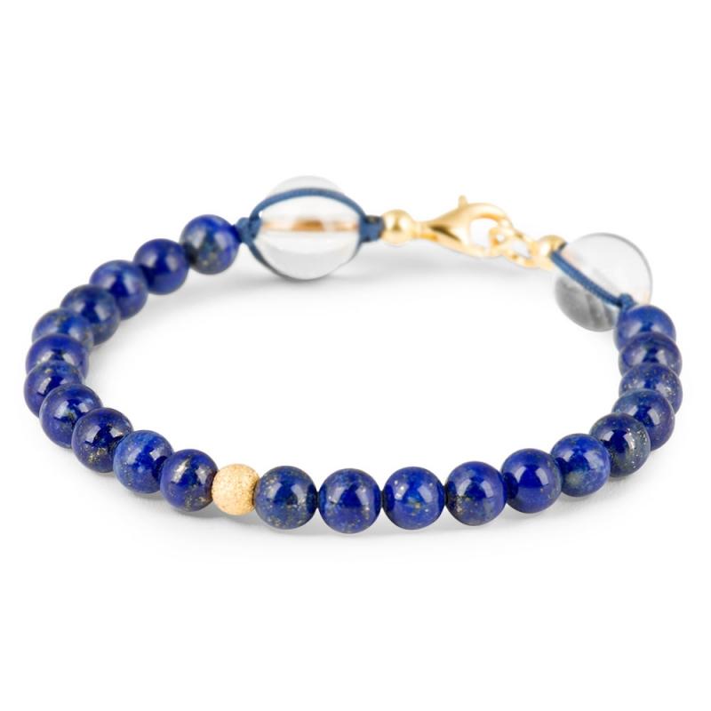 Bracelet Lapis-lazuli, Argent Plaqué Or , Le Vingt-Deux