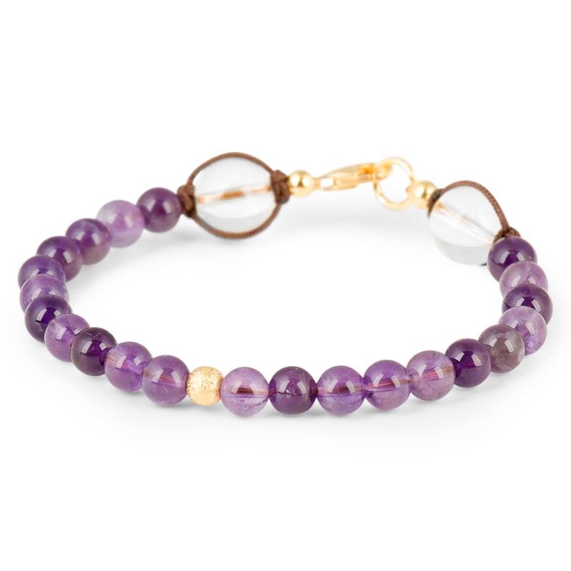 Vermeil and Amethyst Stone Bracelet , Le Vingt-Deux