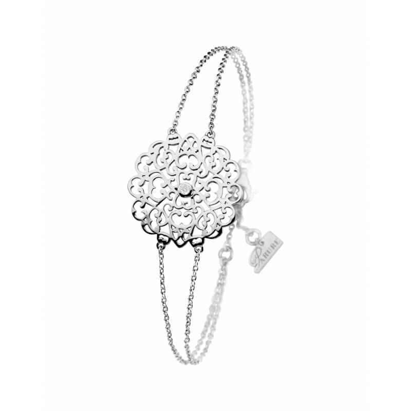 Bracelet en argent, Diamant , Dentelle