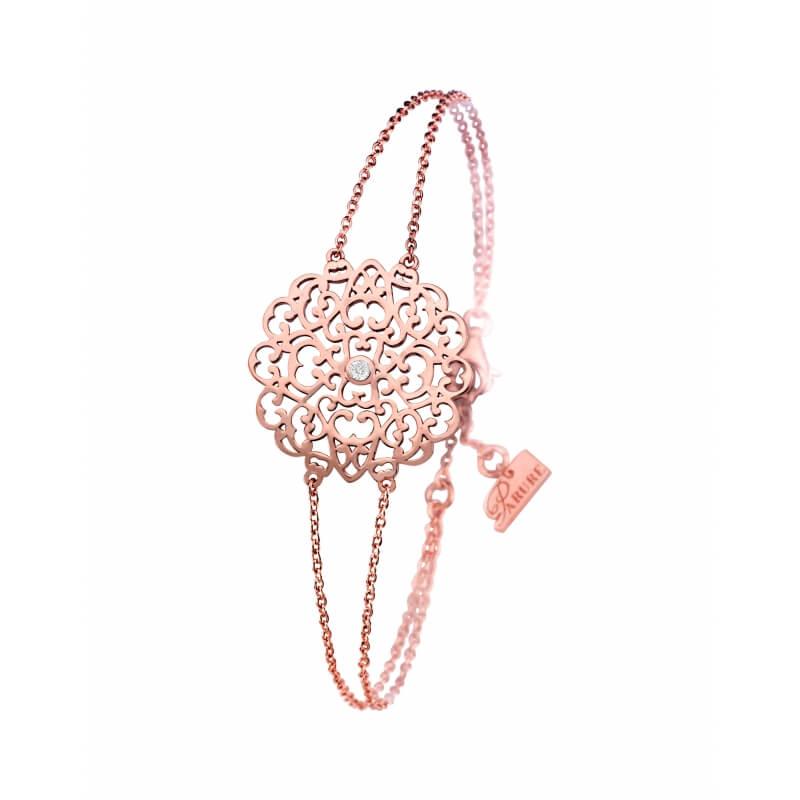Bracelet vermeil rose, Diamant , Dentelle