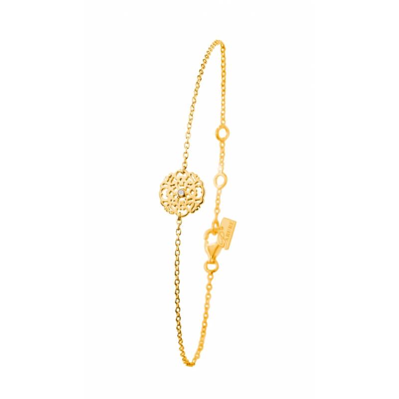 Bracelet vermeil jaune, Diamant , Dentelle M