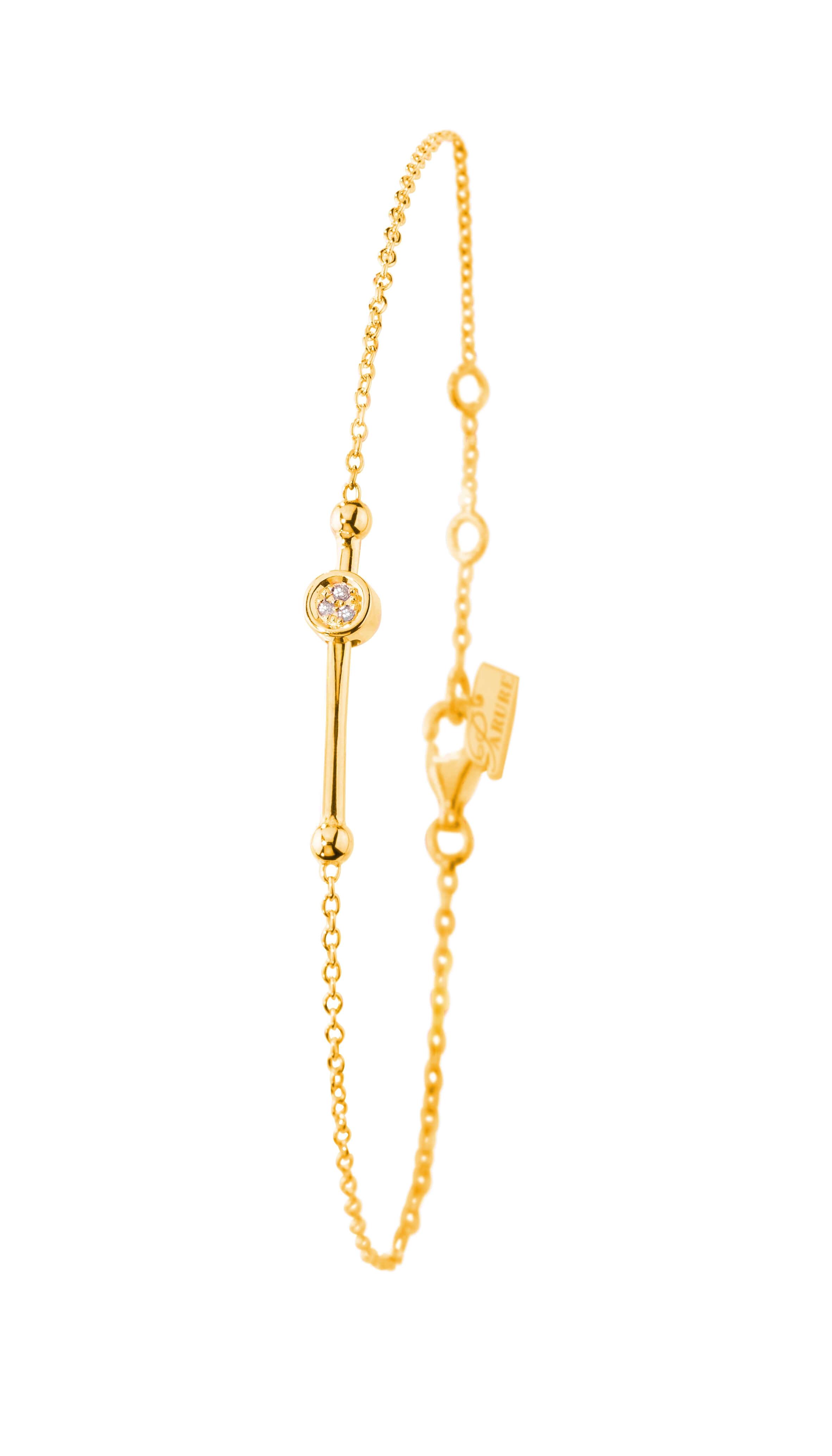 Bracelet plaqué Or jaune 925 diamant