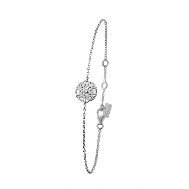 Bracelet en argent, Diamant , Dentelle M