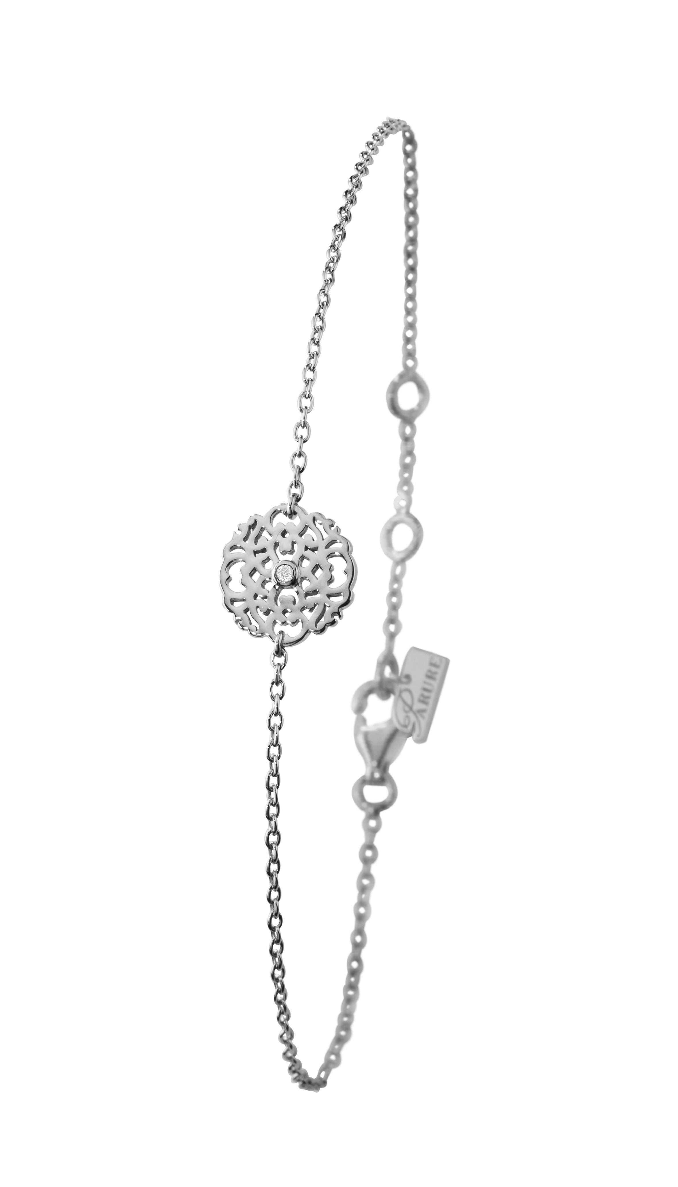 Bracelet argent 925 plaqué OJ diamant
