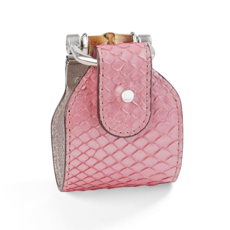 Bracelet en Cuir de Python Gloss Pink , Portia
