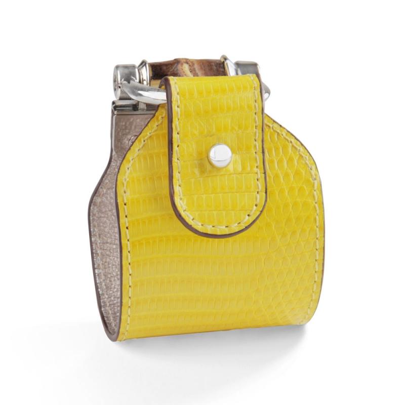 Bracelet en Cuir de Lézard Citron , Portia