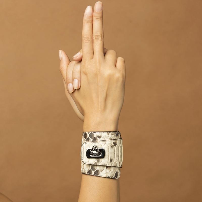 Bracelet Cuir Nappa Beige , Hermione
