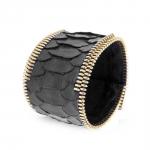 bracelet manchette python et plaqué or jaune rebel coralie paris diveene joaillerie