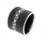 bracelet manchette galuchat et plaqué argent spark coralie paris diveene joaillerie