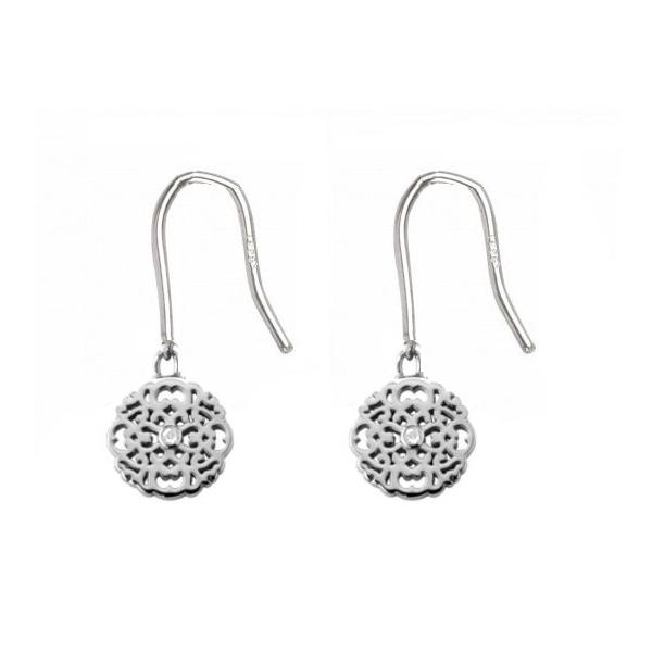 Boucles d'oreilles argent 925 diamants