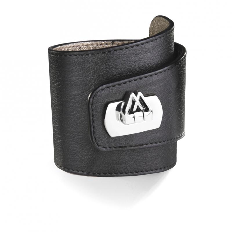 Bracelet en Cuir Nappa Noir , Cadwall