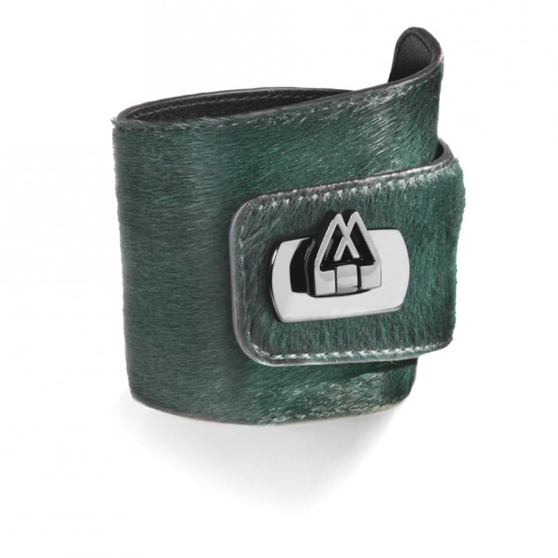 Bracelet en Cuir de Veau Dark Green , Cadwall