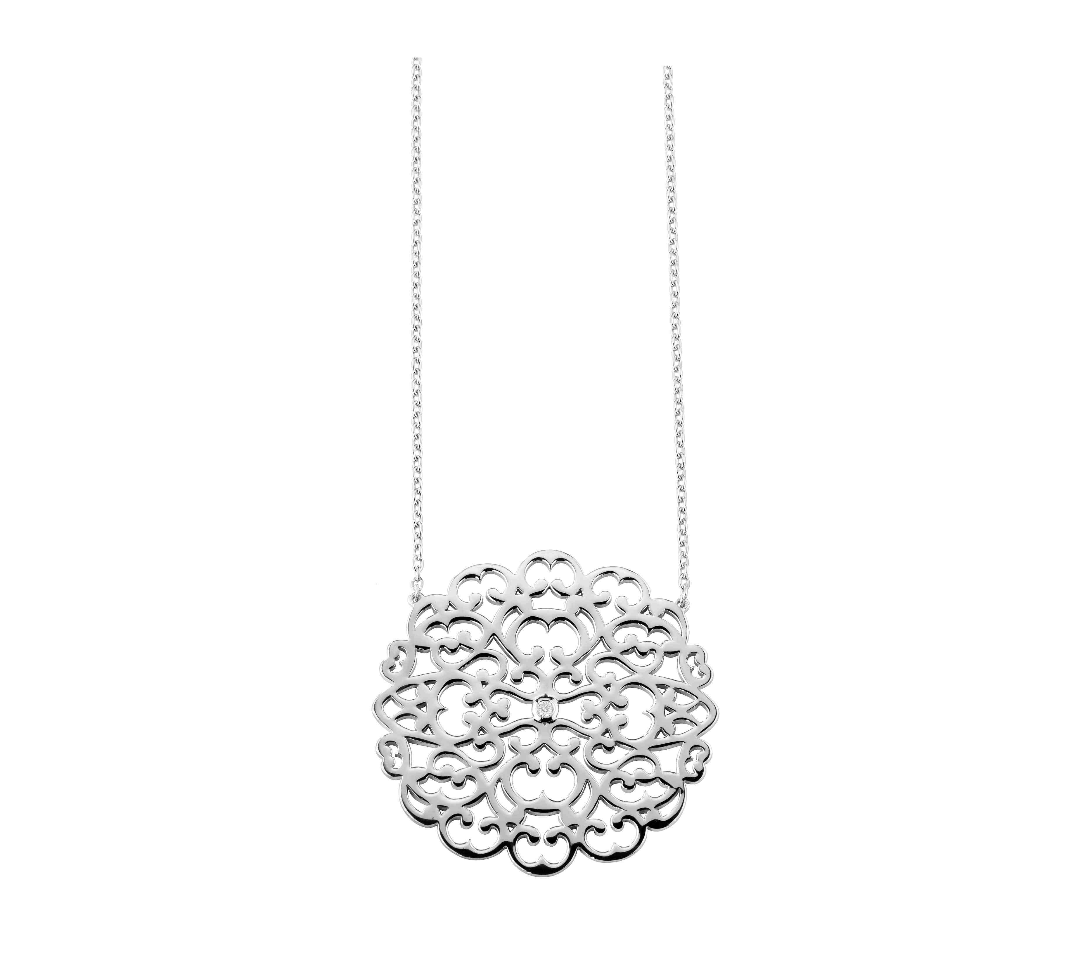 Collier argent 925 diamant