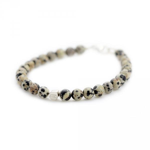 bracelet sten dalmatien et argent diveene joaillerie