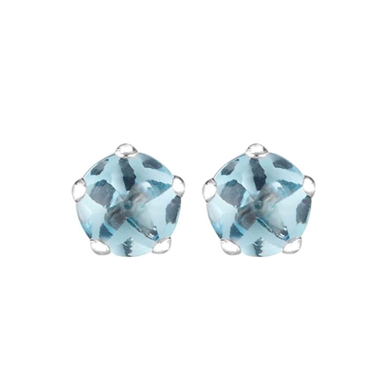 Silver Blue Topaz Earrings , Heidi