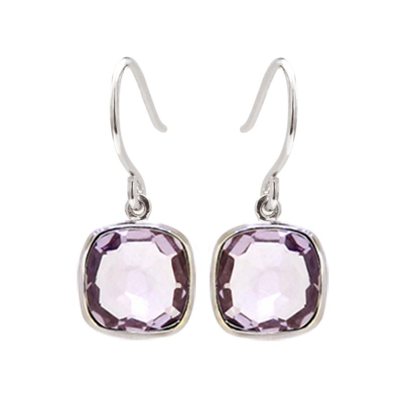 Silver Amethyst Earrings , Paola
