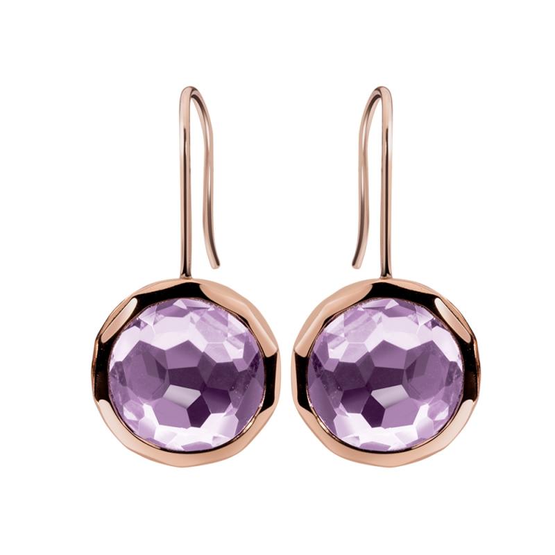 Rose Gold Vermeil Amethyst Earrings , Flavy