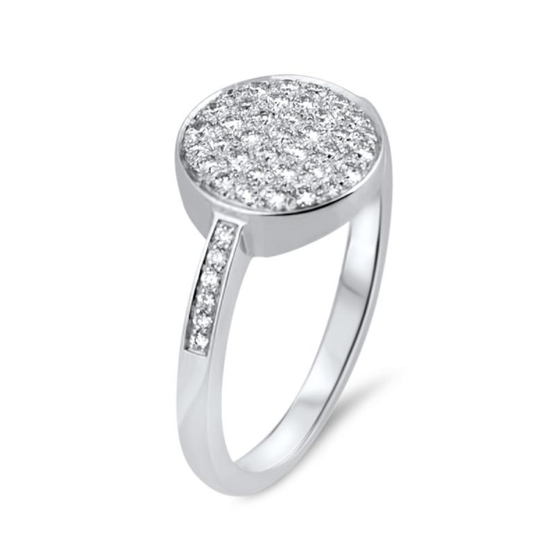 18k White Gold Diamond Ring, Edith