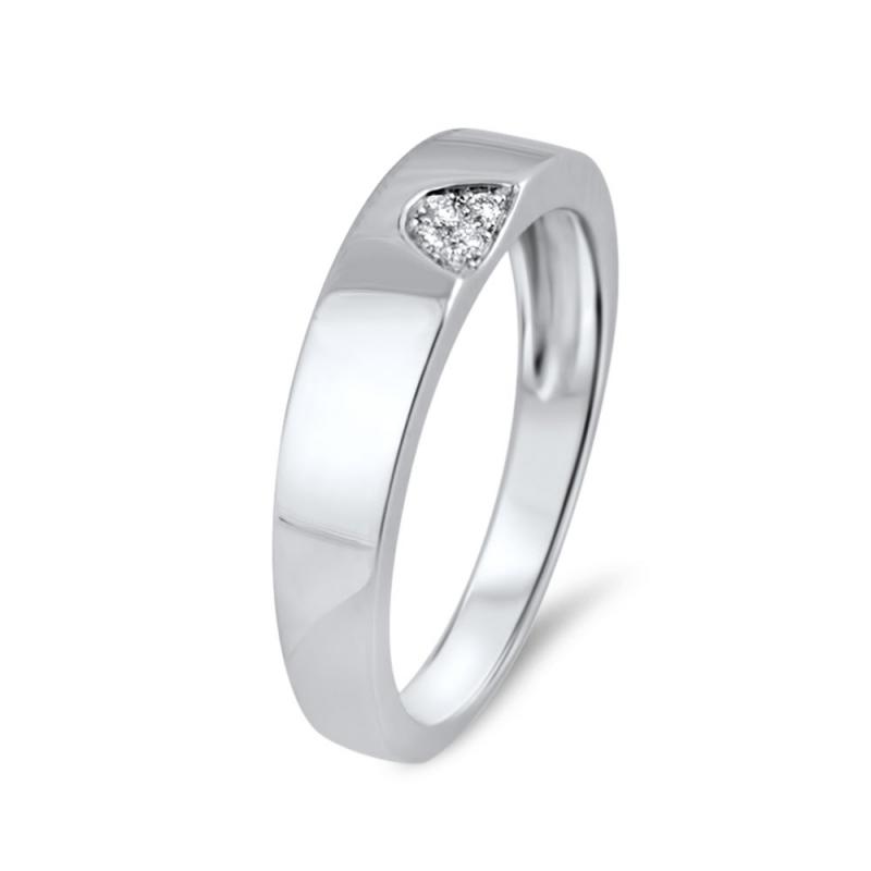 18k White Gold Diamond Half Eternity Ring , Tanger